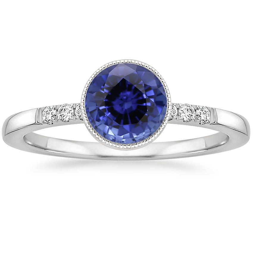 Sapphire Imogen Diamond Ring in 18K White Gold