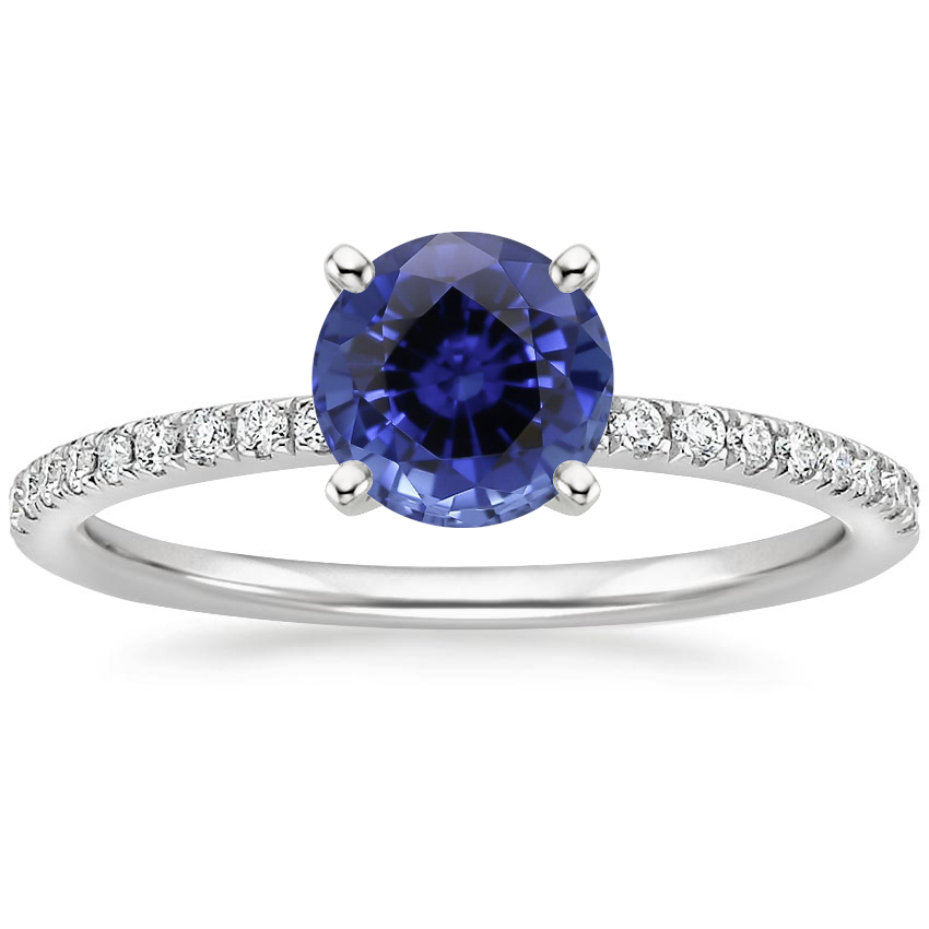 Sapphire Ballad Diamond Ring (1/8 ct. tw.) in 18K White Gold