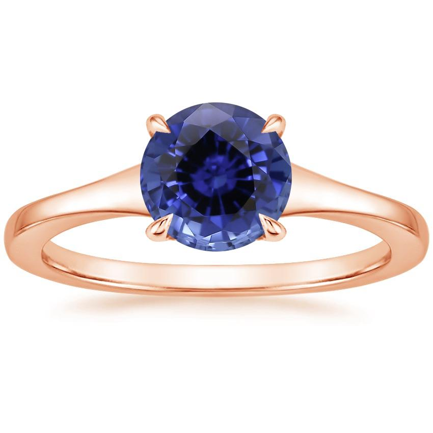 Rose Gold Sapphire Muse Ring