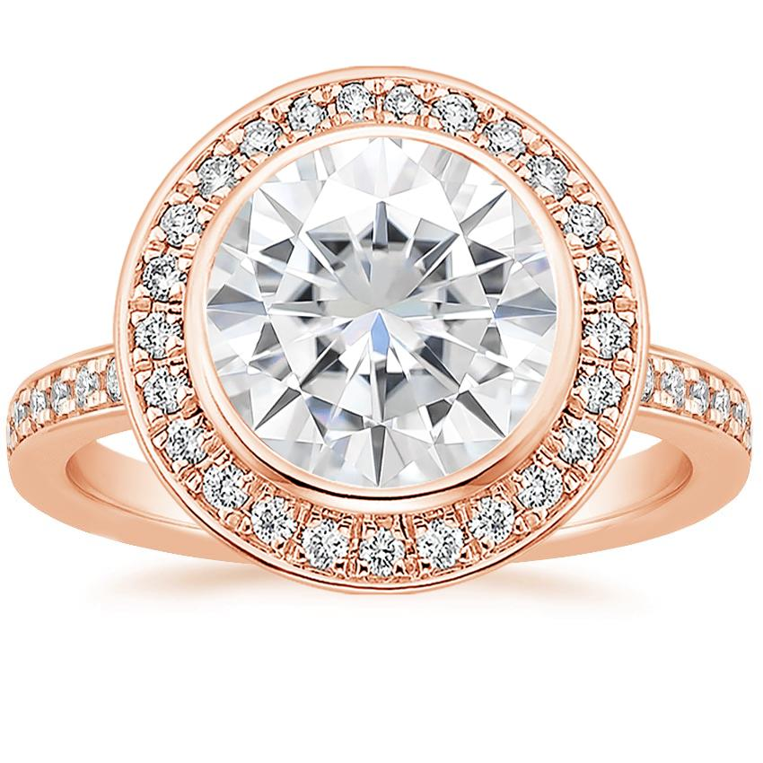 Rose Gold Moissanite Malia Diamond Ring (1/4 ct. tw.)