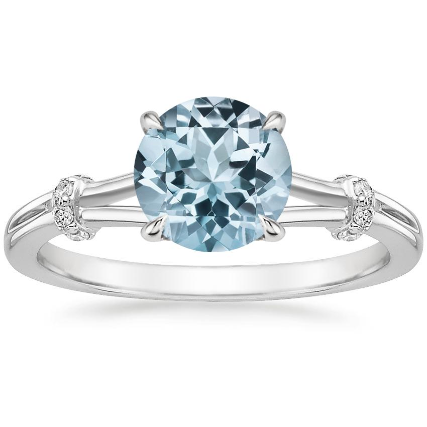 Aquamarine Odelia Diamond Ring in Platinum