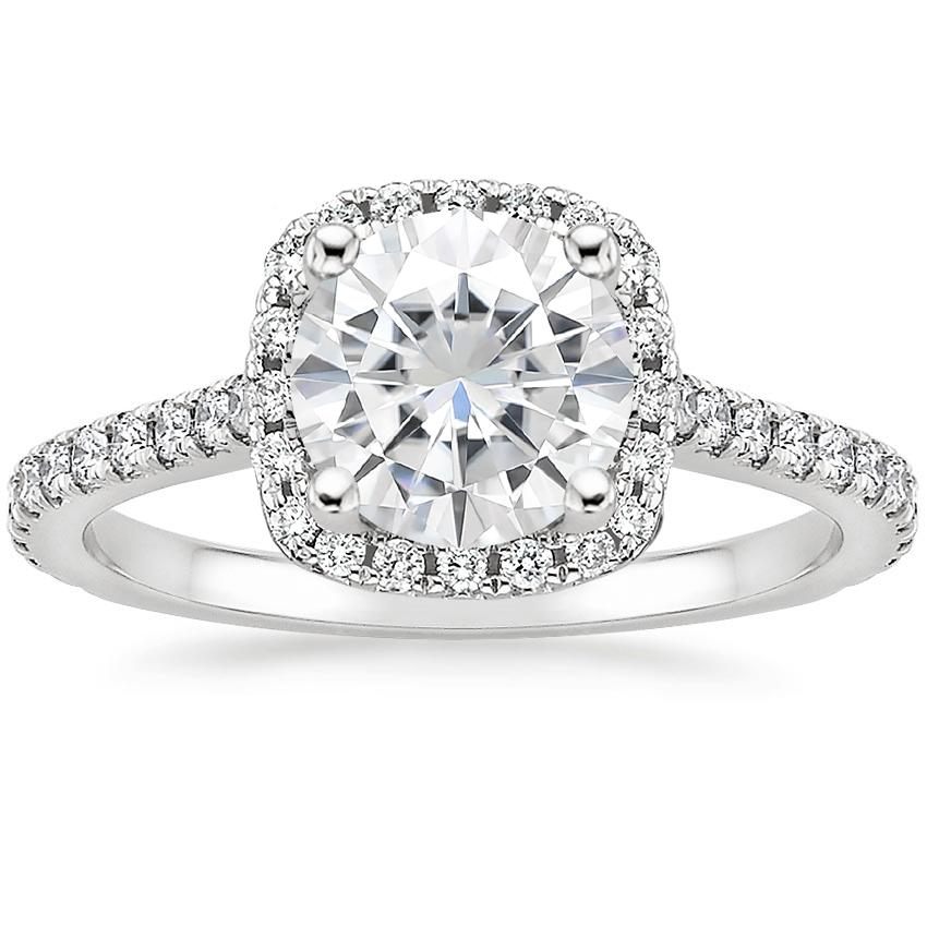Moissanite Luxe Odessa Diamond Ring (1/3 ct. tw.) in 18K White Gold