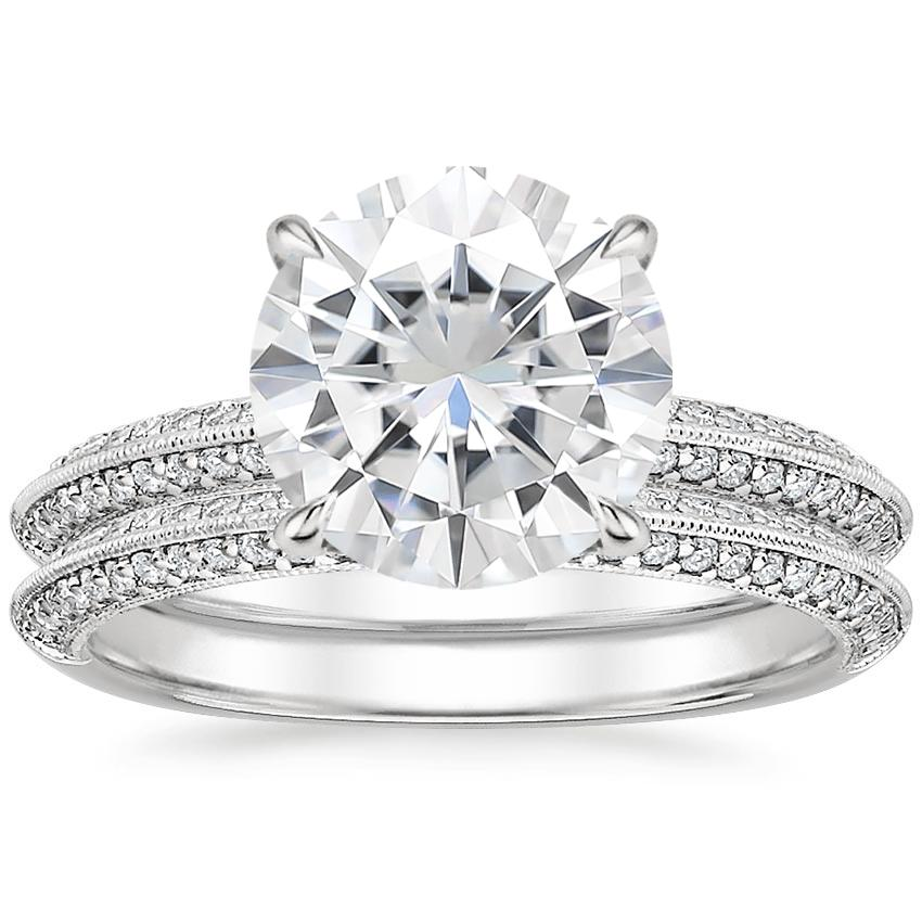 18KW Moissanite Callista Diamond Bridal Set (1/3 ct. tw.), top view