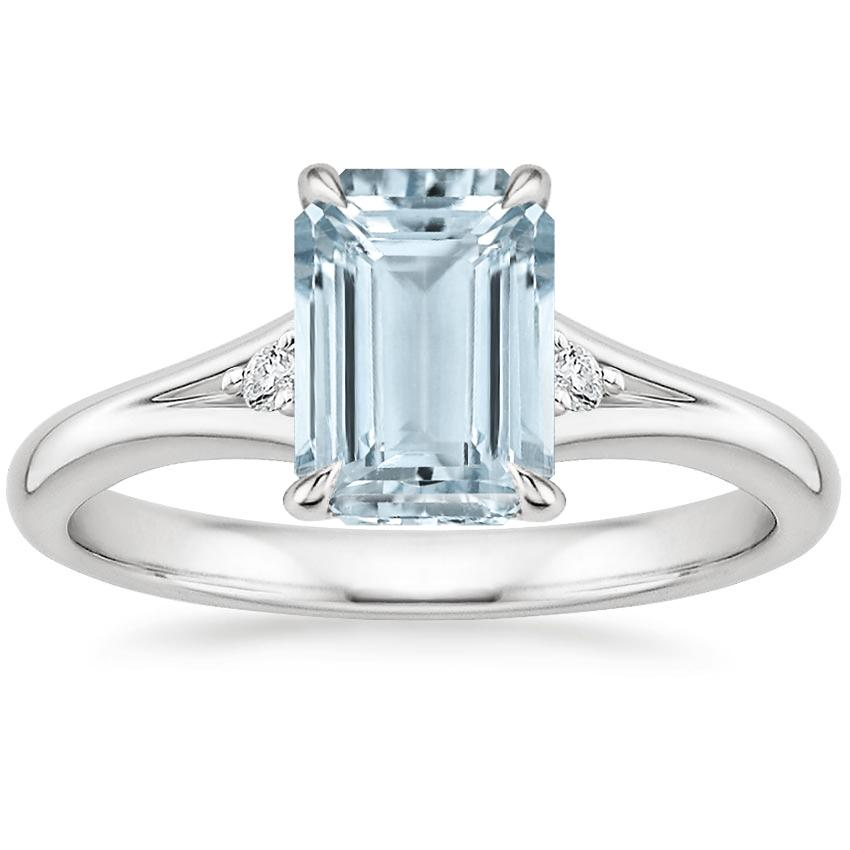 Aquamarine Lena Diamond Ring in Platinum