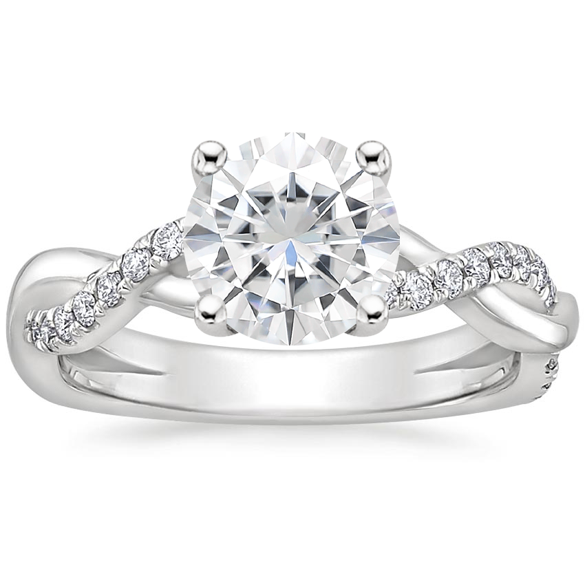 Moissanite Braided Vine Diamond Ring (1/4 ct. tw.) in 18K White Gold