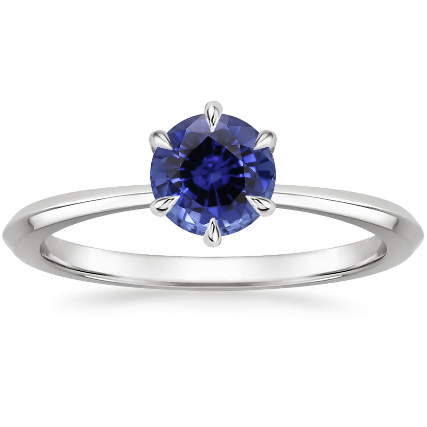 Sapphire Channing Ring in 18K White Gold