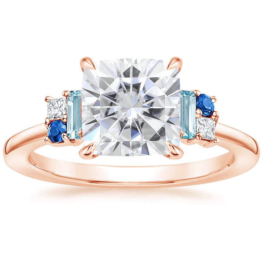Rose Gold Moissanite Mazarine Ring