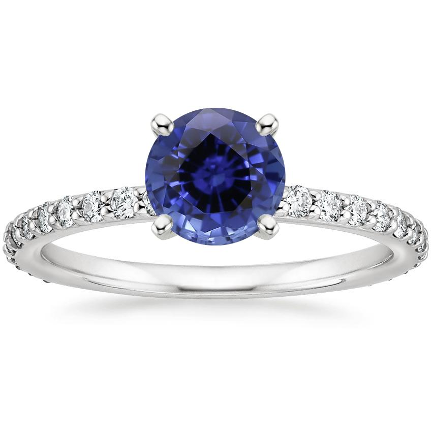 Sapphire Luxe Petite Shared Prong Diamond Ring (1/3 ct. tw.) in Platinum