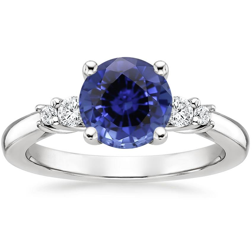 Sapphire Rialto Diamond Ring in 18K White Gold