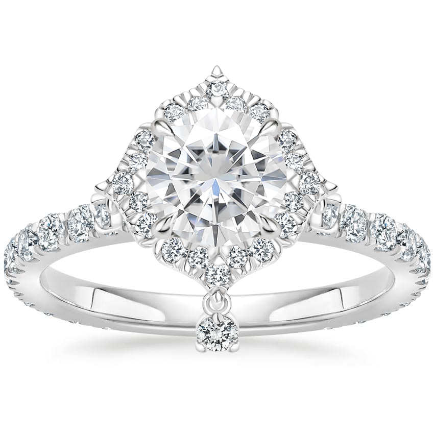 Moissanite Summer Rain Diamond Ring (3/4 ct. tw.) in 18K White Gold