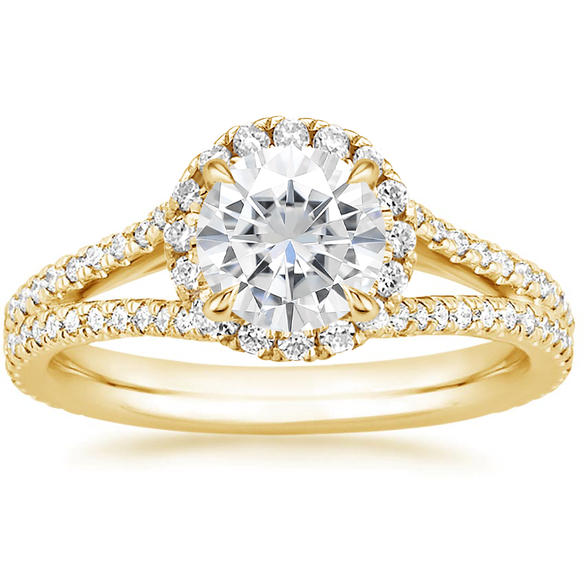 Yellow Gold Moissanite Fortuna Diamond Ring (1/2 ct. tw.)