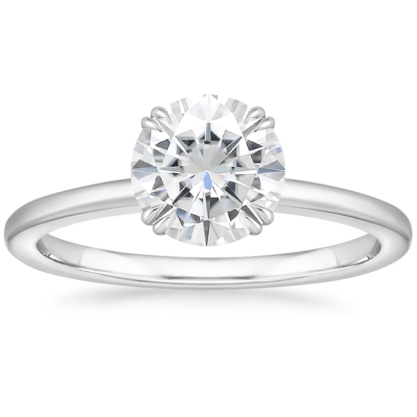 Moissanite Sora Diamond Ring in 18K White Gold