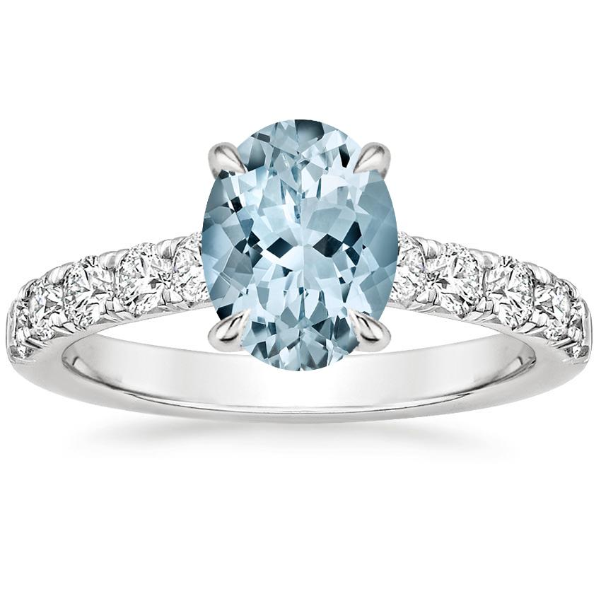 Aquamarine Luxe Anthology Diamond Ring (1/2 ct. tw.) in Platinum