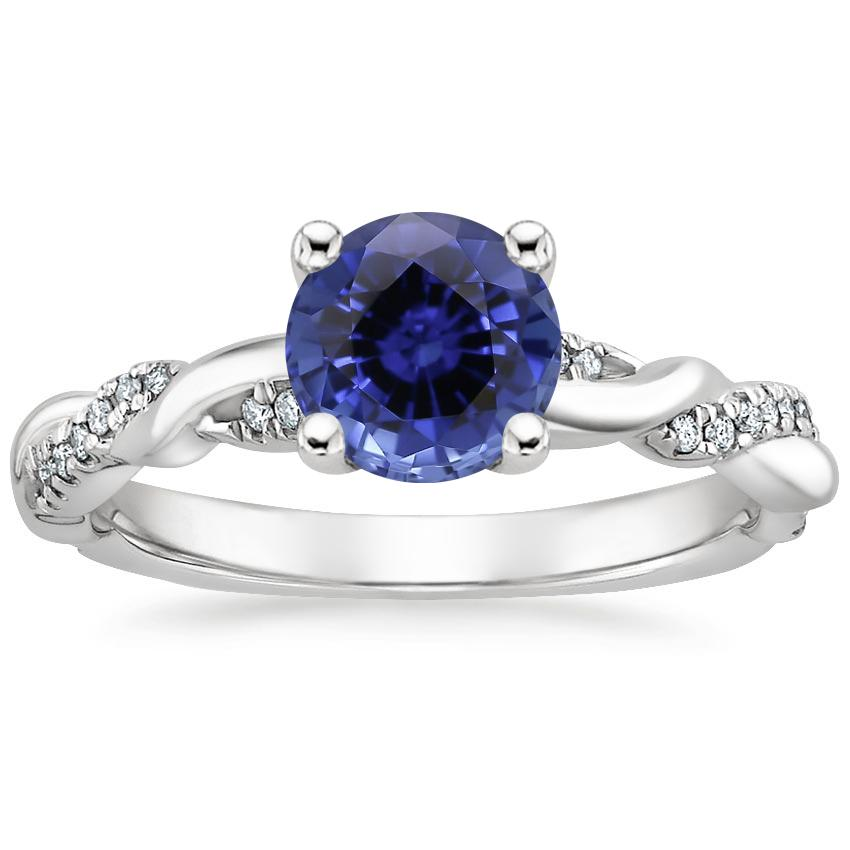Sapphire Tressa Diamond Ring in Platinum