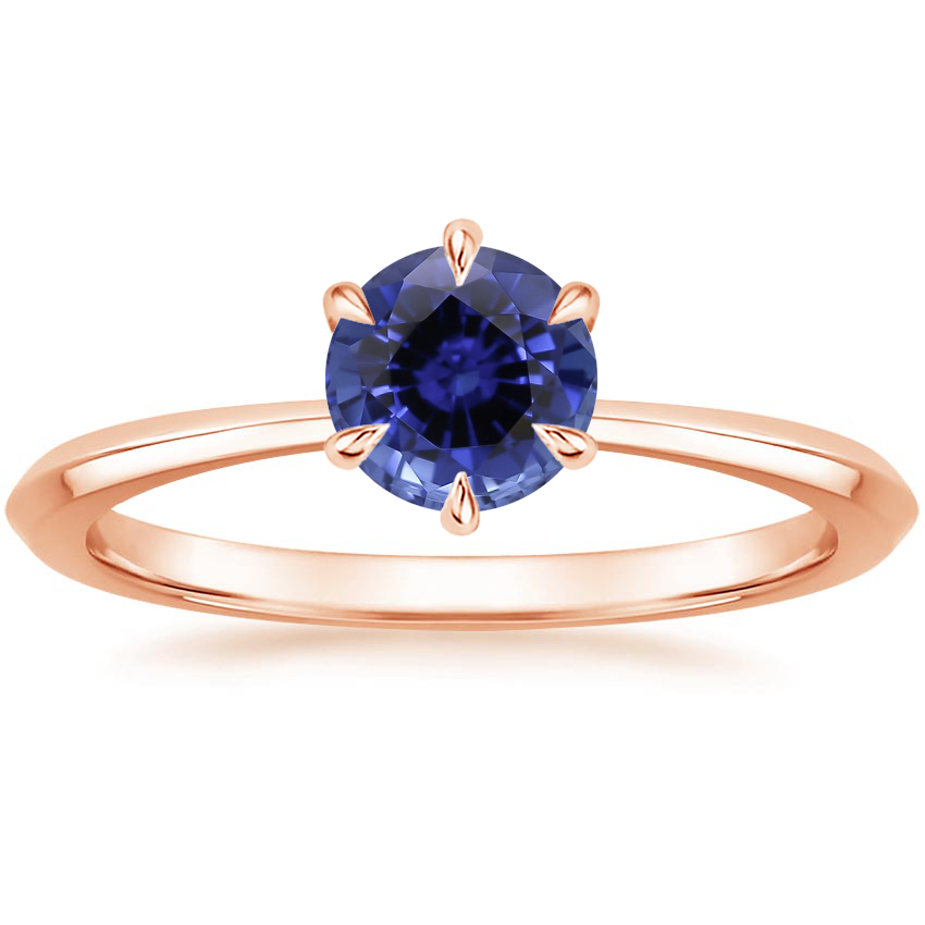 Rose Gold Sapphire Channing Ring