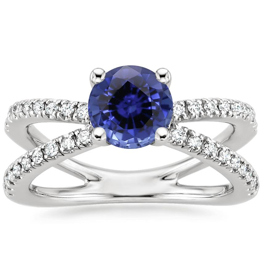 Sapphire Bisou Diamond Ring (1/3 ct. tw.) in Platinum
