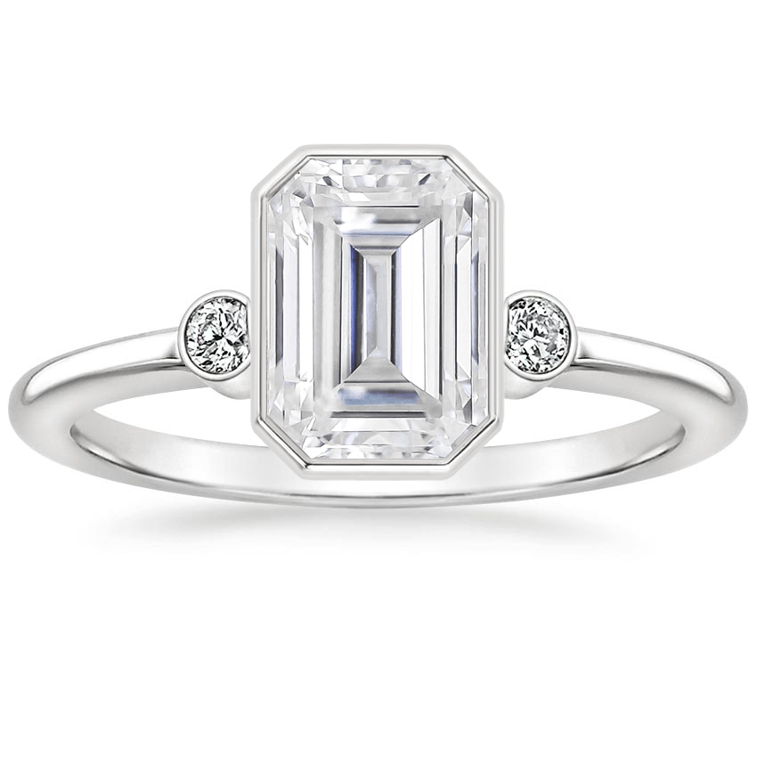 Moissanite Mila Diamond Ring in 18K White Gold
