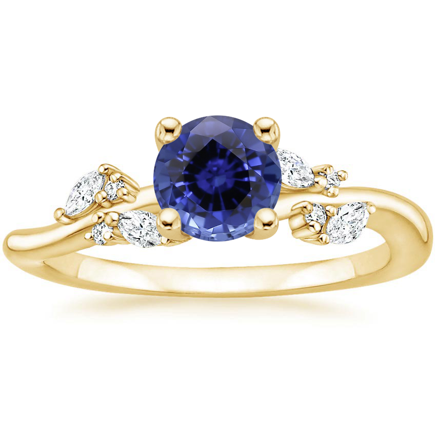 Yellow Gold Sapphire Arden Diamond Ring