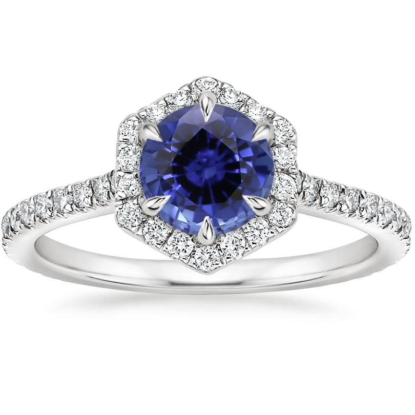 Sapphire Sonnet Diamond Ring (1/3 ct. tw.) in 18K White Gold