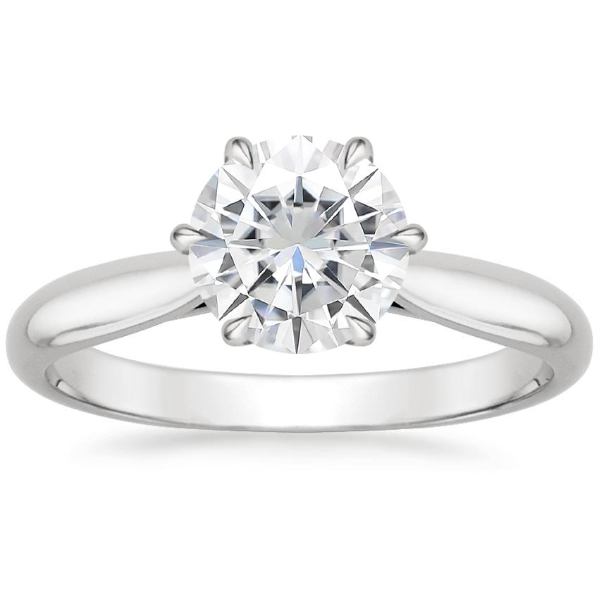 Moissanite Catalina Ring in 18K White Gold