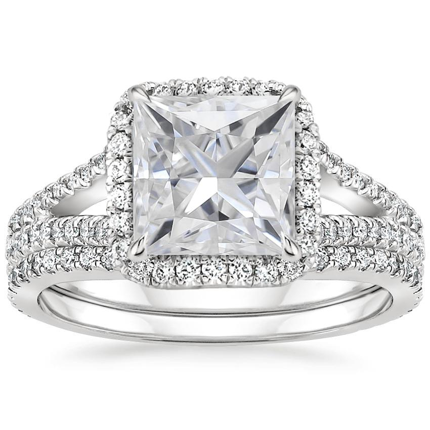 18KW Moissanite Fortuna Diamond Bridal Set (2/3 ct. tw.), top view