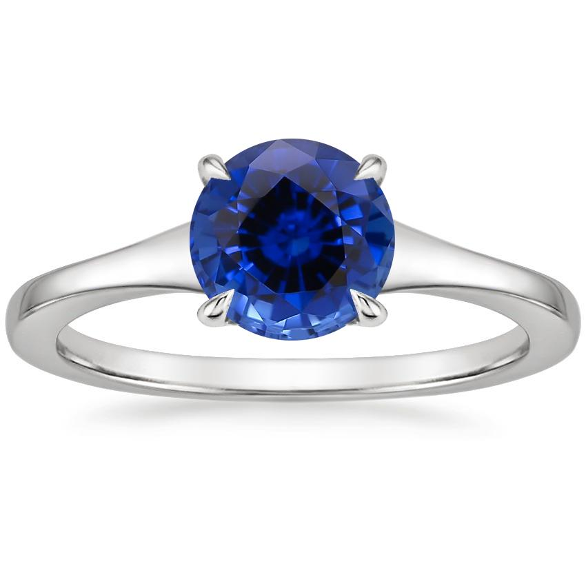 Sapphire Muse Ring in 18K White Gold