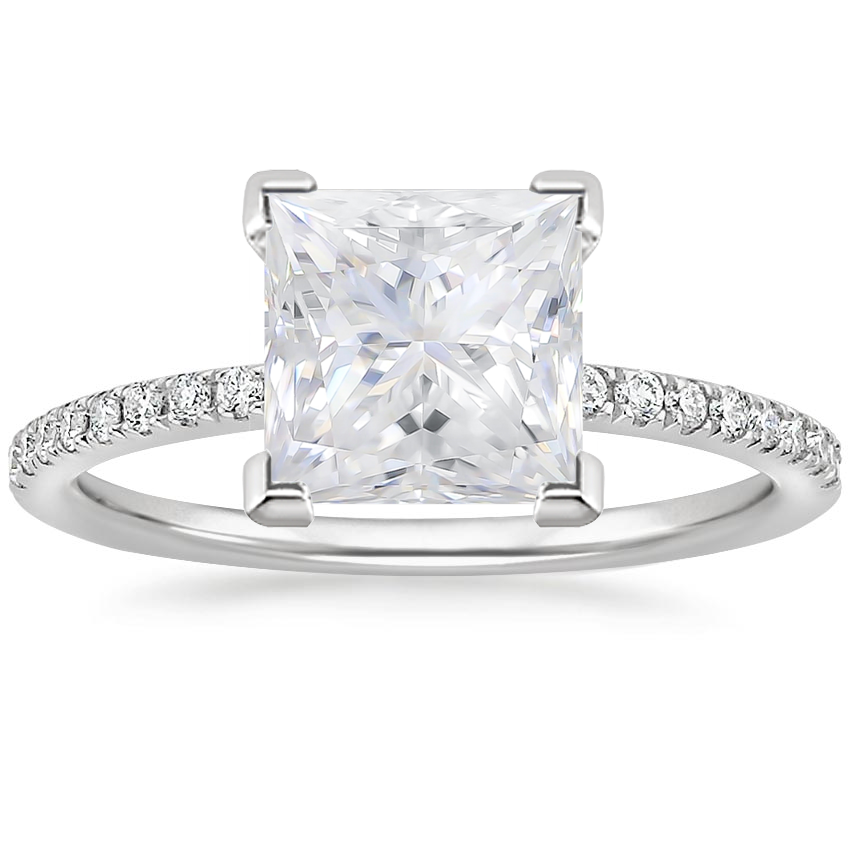 Moissanite Ballad Diamond Ring (1/8 ct. tw.) in 18K White Gold