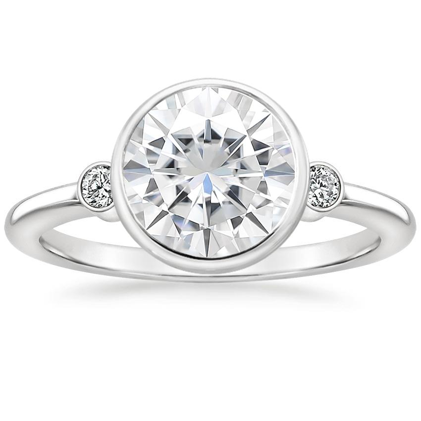 Moissanite Mila Diamond Ring in Platinum