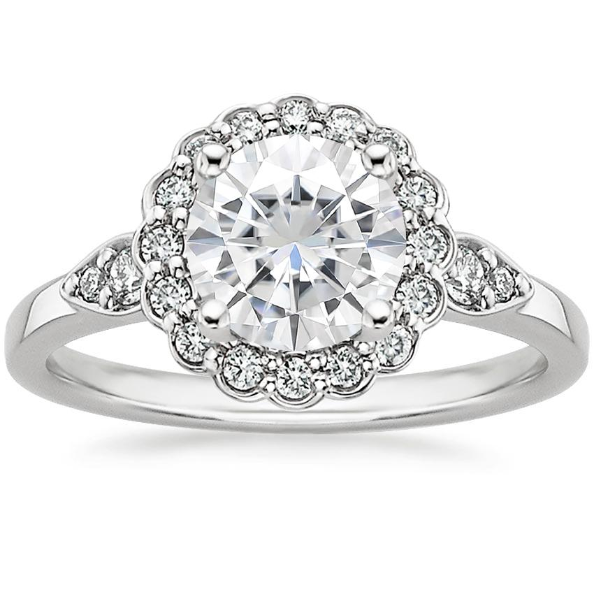 Moissanite Camillia Diamond Ring (1/4 ct. tw.) in 18K White Gold
