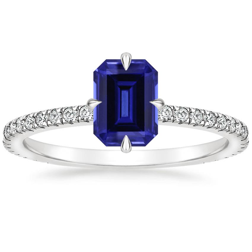 Sapphire Polaris Diamond Ring in 18K White Gold