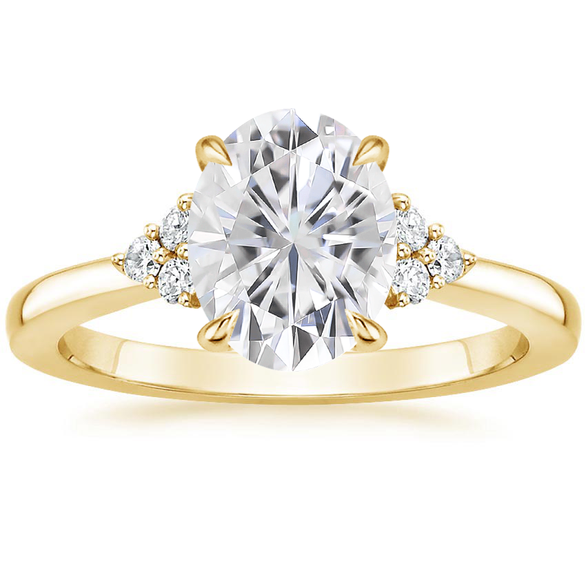 Yellow Gold Moissanite Melody Diamond Ring