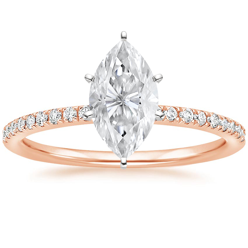 Rose Gold Moissanite Ballad Diamond Ring (1/8 ct. tw.)