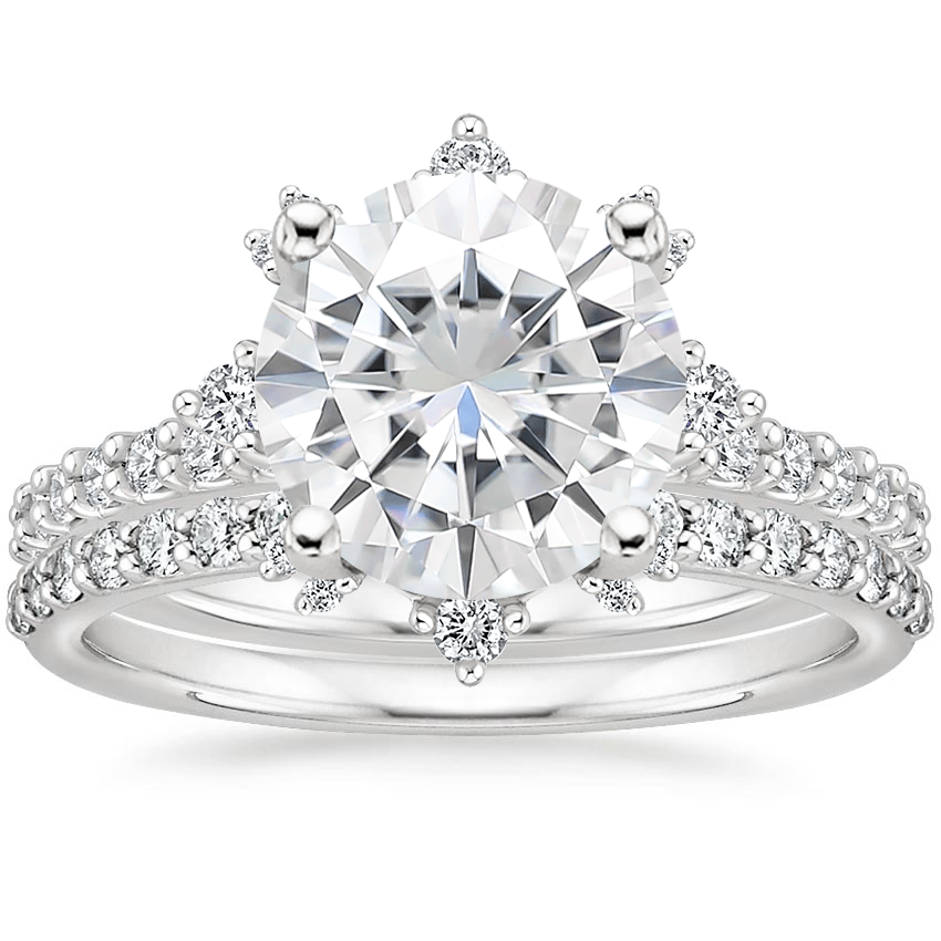 18KW Moissanite Arabella Diamond Bridal Set (1/2 ct. tw.), top view