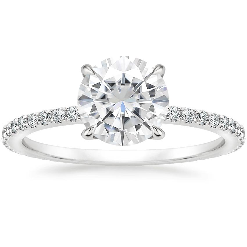 Moissanite Demi Diamond Ring (1/3 ct. tw.) in 18K White Gold