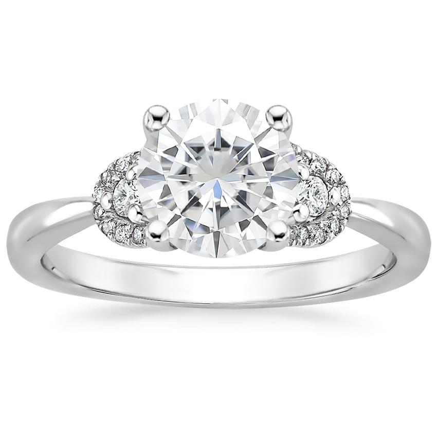 Moissanite Lorelai Diamond Ring in 18K White Gold