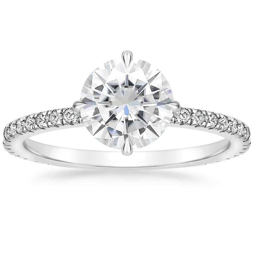 Moissanite Polaris Diamond Ring (1/4 ct. tw.) in 18K White Gold