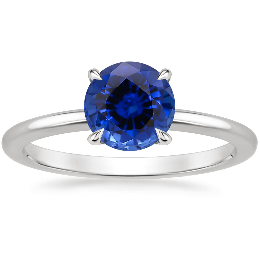 Sapphire Petite Elodie Ring in 18K White Gold