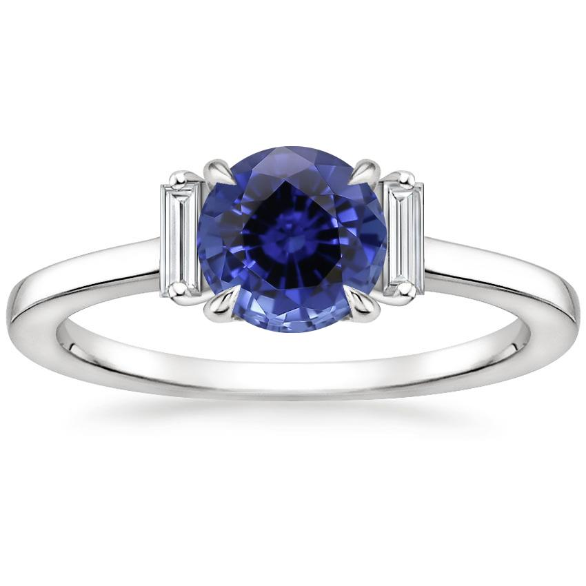 Sapphire Piper Diamond Ring in 18K White Gold