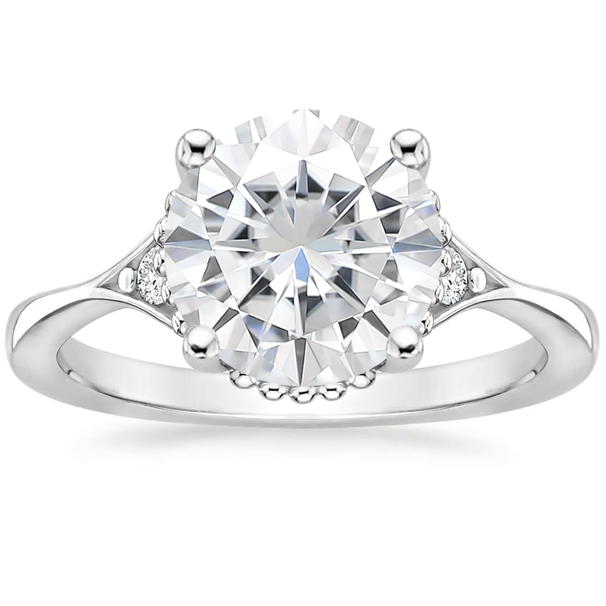 Moissanite Dolce Diamond Ring in Platinum