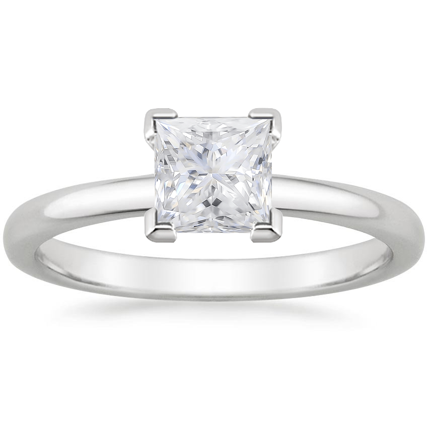 Moissanite 2mm Comfort Fit Ring in Platinum