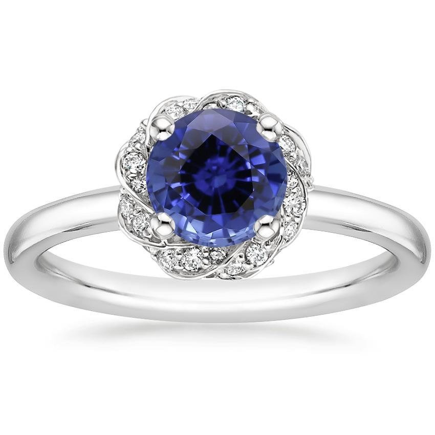 Sapphire Corinna Diamond Ring in 18K White Gold