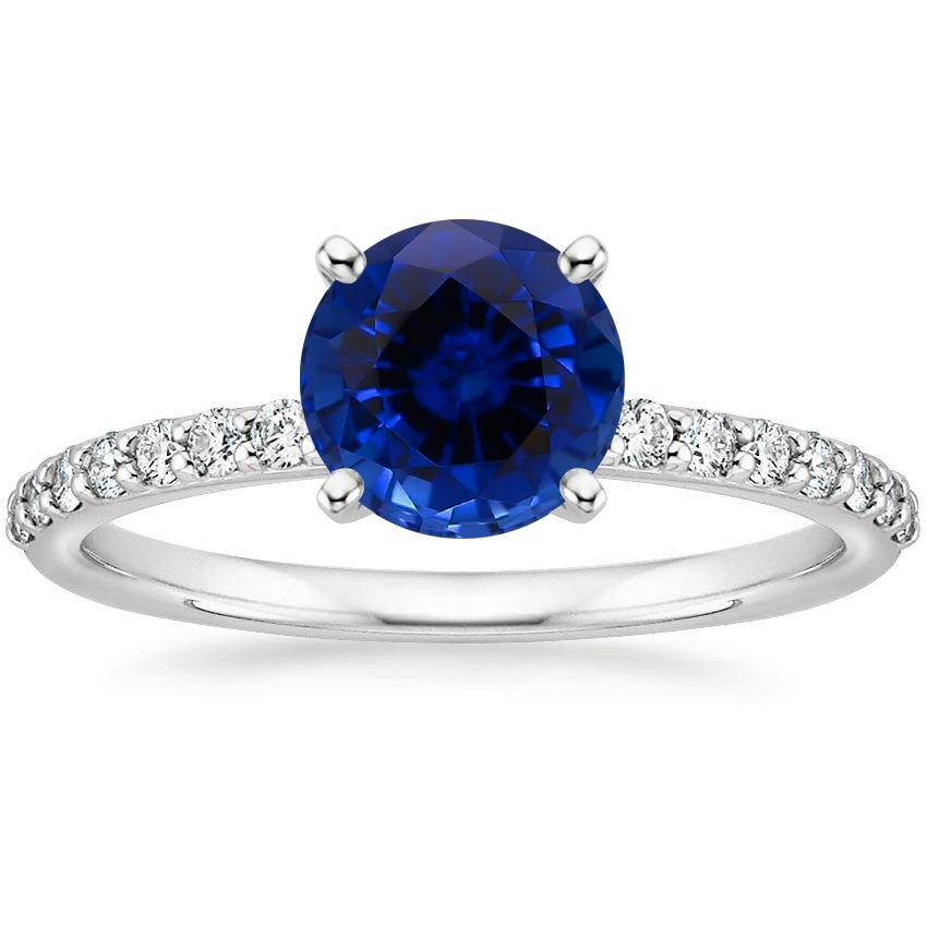 Sapphire Petite Shared Prong Diamond Ring (1/4 ct. tw.) in Platinum