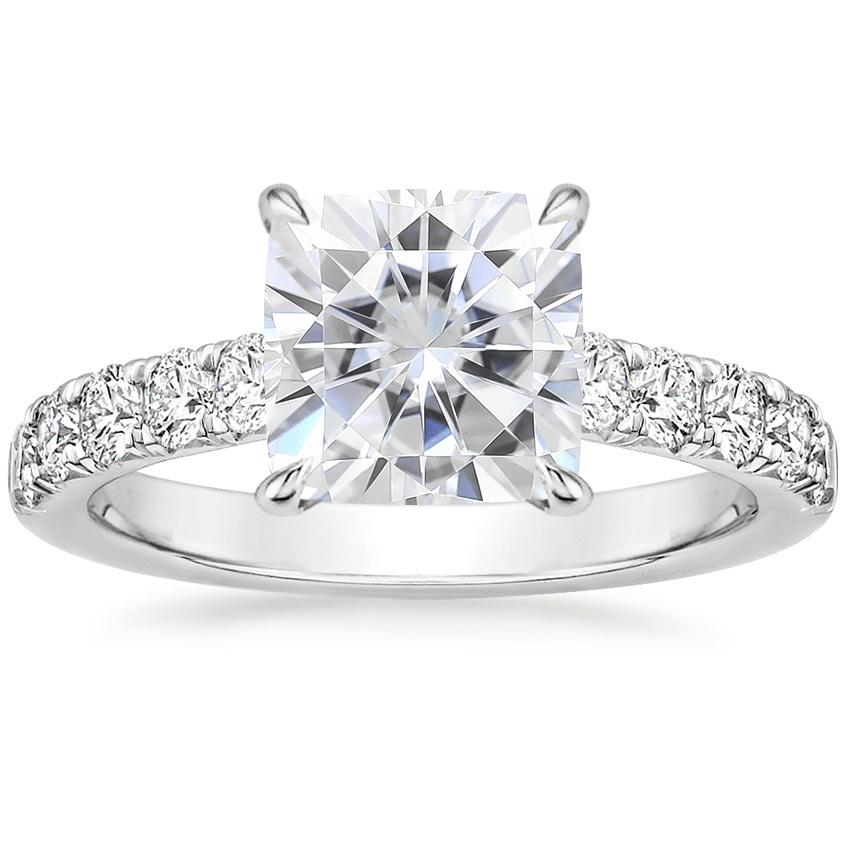 Moissanite Luxe Anthology Diamond Ring (1/2 ct. tw.) in 18K White Gold