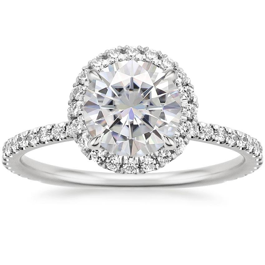 Moissanite Waverly Diamond Ring (1/2 ct. tw.) in 18K White ...