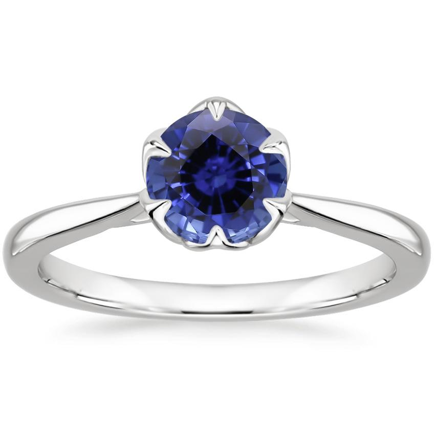Sapphire Caliana Ring in 18K White Gold
