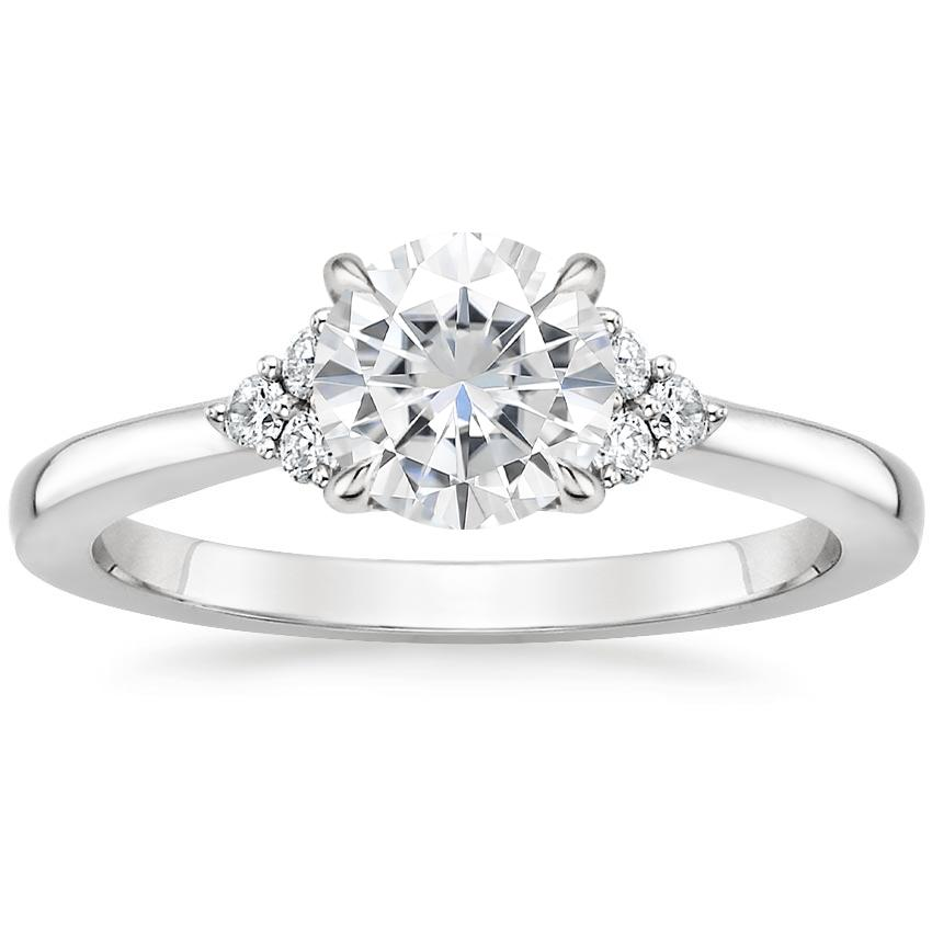 Moissanite Melody Diamond Ring in Platinum