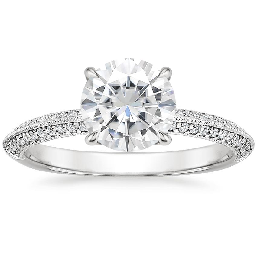 Moissanite Callista Diamond Ring in 18K White Gold