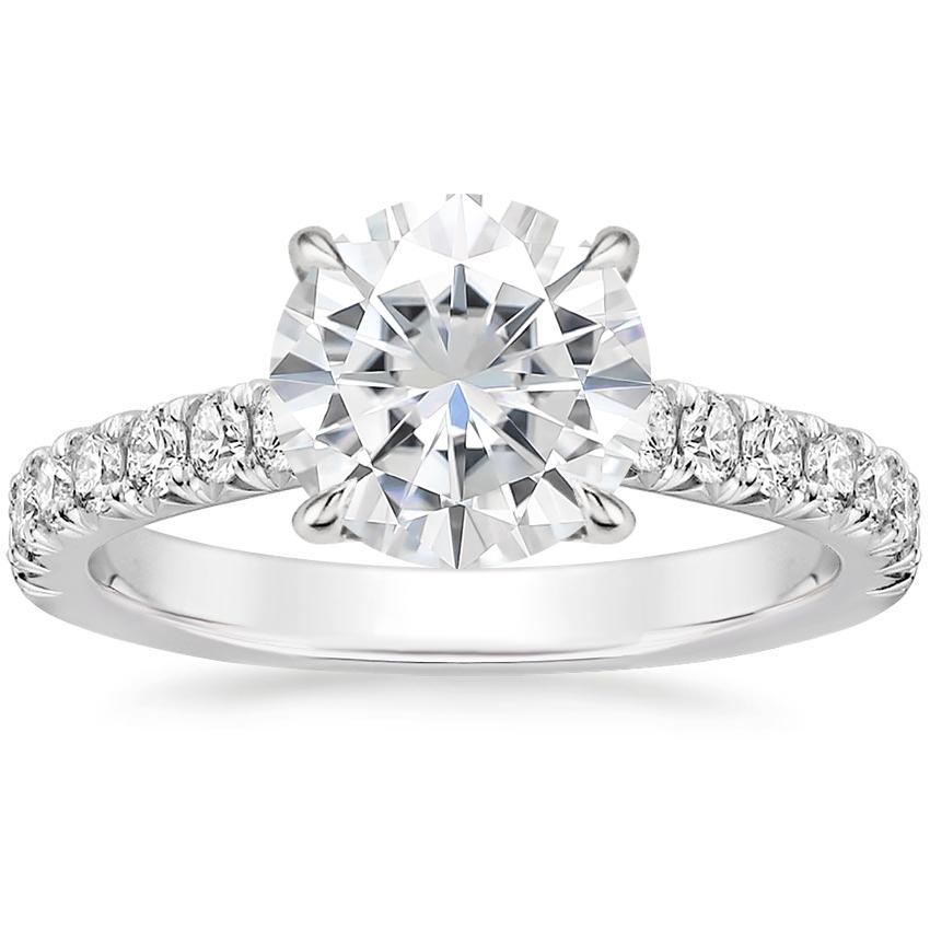 Moissanite Sienna Diamond Ring (3/8 ct. tw.) in 18K White Gold