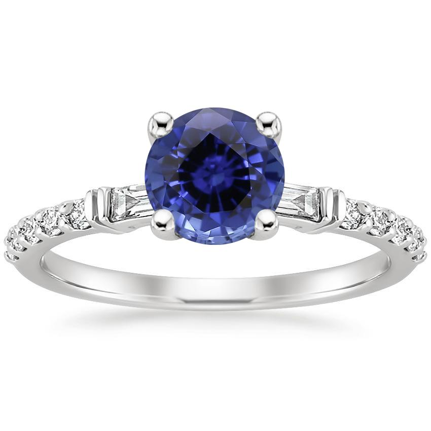 Sapphire Regency Diamond Ring (1/4 ct. tw.) in 18K White Gold