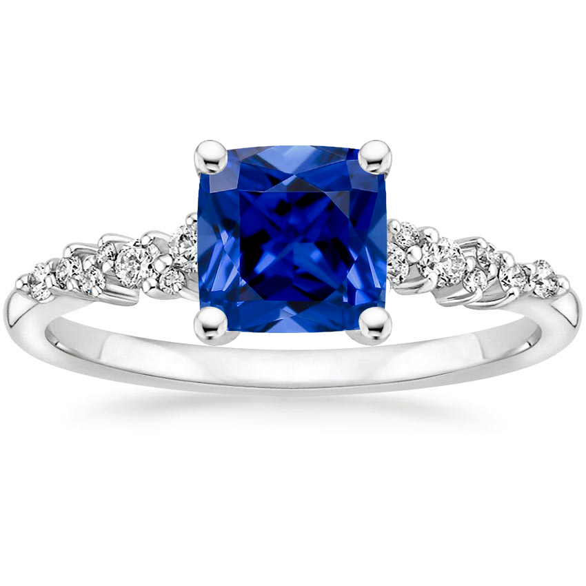 Sapphire Aurora Diamond Ring in Platinum